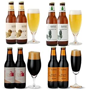 春夏限定フルーツビール2種入 【フレーバービール4種8本飲み比べセット】 送料込み