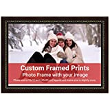 Averprint Photo Frame Personalized Picture Frame With Custom Photo / Your Image Print 18x12 Inch (45x30 Cm Framed)