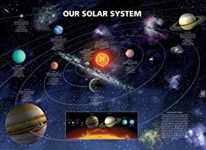 Amazon.com: Our Solar System Poster Art Print (Planet Information