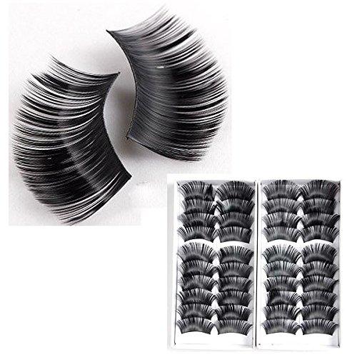 False eyelashes - TOOGOO(R) 2x 10 pair false eyelashes extra long 2cm eyelash voluminous black makeup eyes eyelashes (False Eyelashes Extra Long compare prices)