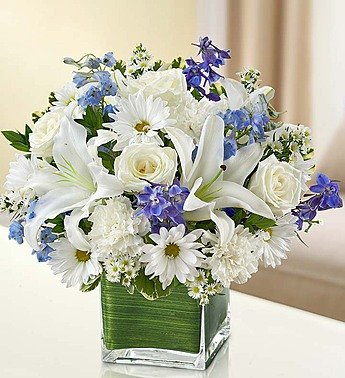 1-800-Flowers - Healing Tears - Blue and White - Large