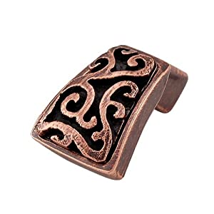 Vicenza Designs K1252 Liscio Finger Pull Knob, Antique Copper