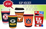 MLB Team Logo Coolie Cup Holder Sleeve Fitting Plastic Cups, Pint Glasses, Coffee Cups, Ice Cream, Etc. - Neoprene and Bottomless (Boston Red Sox)