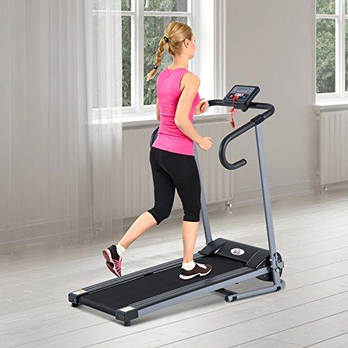Outsunny - Tapis roulant elettrico Attrezzo ginnico richiudibile Attrezzo per l'allenamento domestico schermo LCD 500 W