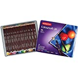 Derwent Colorsoft Pencils, 4mm Core, Metal Tin, 24 Count (0701027)