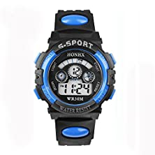 buy Branxin(Tm)2016 Unisex Sports Waterproof Outdoor Silicone Candy Color Band Led Backlight Electronic Digital Swimming Wrist Watch Week Alarm