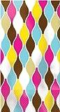 Elise Premium Patterned Paper Guest Towels/Large Napkins, 16 Count, Geometric - Bianca