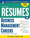 Resumes for Business Management Careers (Professional Resumes Series)