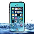 Redpepper iPhone 5c Case Cover Waterproof Dirtproof Snowproof Shockproof Skin Hard Phone Shell with Rugged Protection for Apple iPhone 5c (Black / Blue)