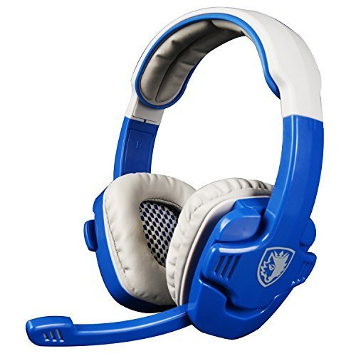 SADES SA708 3.5mm PC Video Gaming Headphones With Hifi Microphone Over-Ear Volume Control for Mobile Phone/iPad/PC/Laptop/Notebook/MP3/MP4/PS4/XBOX ONE(Mobile Version) (Blue Tiger Pro compare prices)