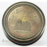 "2.25"" Sir Lord Kelvin Brass (1824-1907) Pocket Sundial Compass Antique Vintage Reproduction"