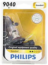 Philips 9040 Standard Halogen Replacement Front Fog Bulb, 1 Pack