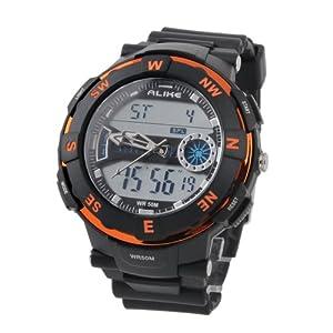 ALIKE AK1386 Plastic 50 Meters Waterproof Sport Utility Watch (Orange)