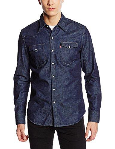 Levi's - Barstow Western, Camicia Casual da uomo, manica lunga, Blu (P3236 Red Cast Rinse), XL