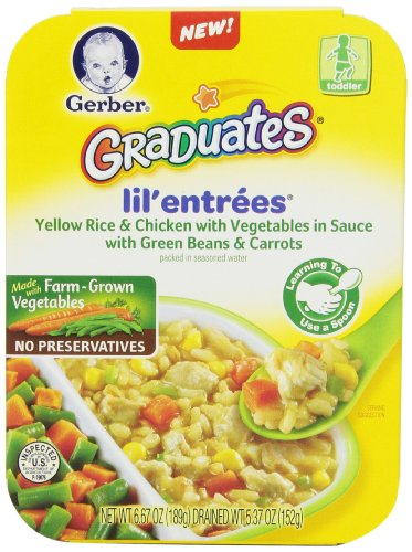 Gerber Graduates Lil Entrees Yellow Rice with Chicken Vegetables 6.67oz packages, 8 Count (Gerber Graduates Rice compare prices)