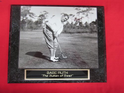 Babe Ruth New York Yankees Collector Plaque w/8x10 VINTAGE Rare Golf Photo at Amazon.com
