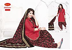 Taos Brand cotton dress materials for women womens dress materials cotton salwar suit New Arrival latest 2016 womens party wear Unstitched dress materials for women (515 summer__multibaalar and maroon_freesize
