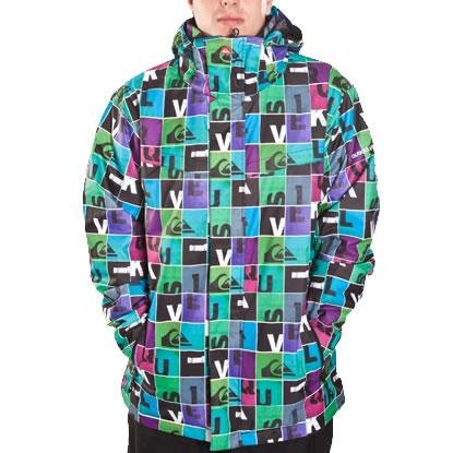Quiksilver Last Mission Print 1 Men's Jacket Cha Ching Blue Small