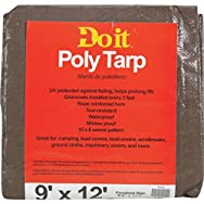 Do it Medium Duty Brown/Green Poly Tarp-9X12 BR/GR MED DUTY TARP