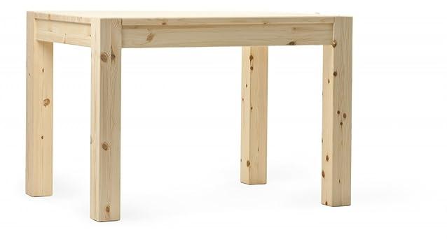 Tavolo CUBO L110 rustico in legno massello -GREZZO (non verniciato)