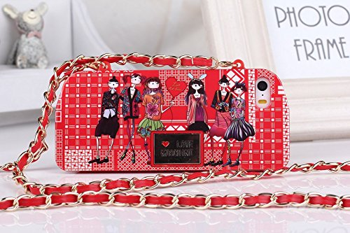 Love Moschino TPU Hard Case Cover For IPhone5 5s with Removable Chain-RED