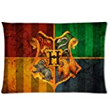 "HipsterOne Harry Potter Retro Hogwarts College Badge Pillowcase Standard Size 20""x30"" (Two sides) Custom Cushion Pillow Case"