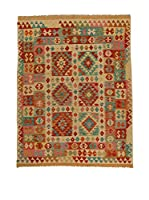 Design Community By Loomier Alfombra Kelim Kaudani (Beige/Multicolor)