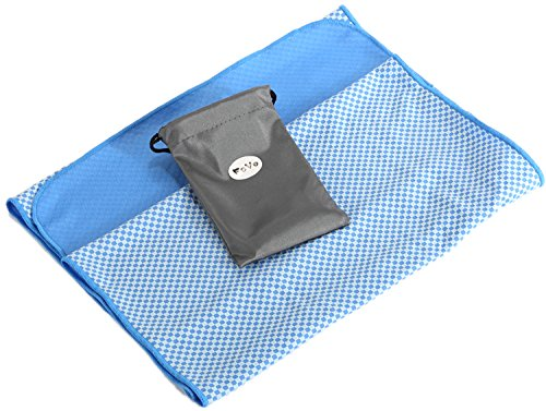 FoVo Cooling Towel Blue Bamboo Charcoal Fiber 100% (2004 Gmc Sierra 2500hd Radiator compare prices)