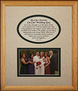 Wedding Gifts For Parents Amazon : Amazon.com: 8x10 TO OUR PARENTS ON OUR WEDDING DAY Picture & Poetry ...