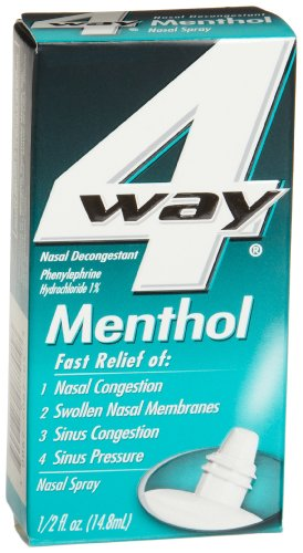 4-Way Menthol Nasal Spray, 0.5-Ounce Boxes (3 pack)