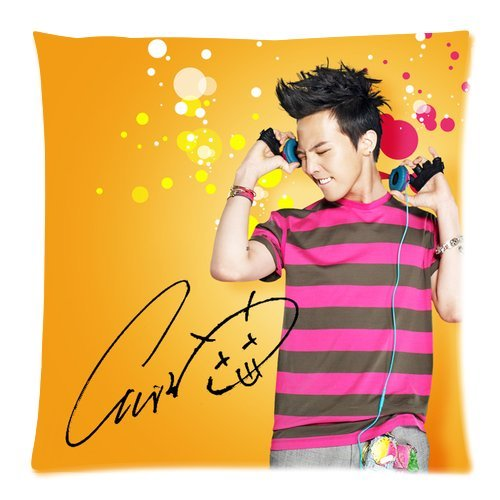 Stylish Design Standard Size 18X18 Two Side Print Korea Hot Singer Fashion Icon G-Dragon Cool Picture Pillowcases Protector For Kids-1 front-1050169
