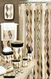 "SHIMMER""GOLD""6X6 SHOWER CURTAIN"