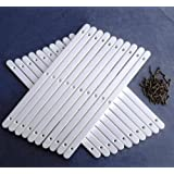 10 Pairs of White Plastic drawer runners with screws for furniture