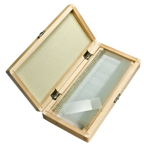 Barska Prepared Microscope Slides, 50 Pieces With Wood Case