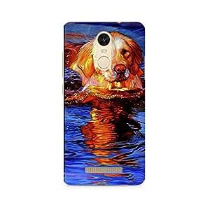 MOBICTURE Dog Premium Designer Mobile Back Case Cover For Xiaomi Redmi Note 3