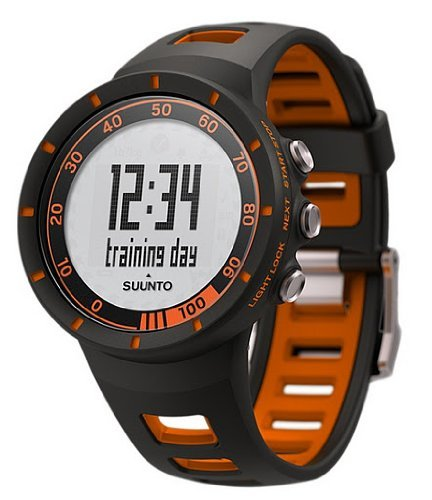 Suunto Quest Wrist-Top Computer Sports Watch with Heart Rate - Black/Orange (SS018154000)