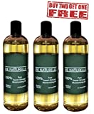 Sweet Almond Oil for Skin and Hair - 100 Percent Pure Cold Pressed Oil - No Fillers, Dyes or Artificial Ingredients of Any Kind - Made in the USA (3 bottles - 16 oz each)