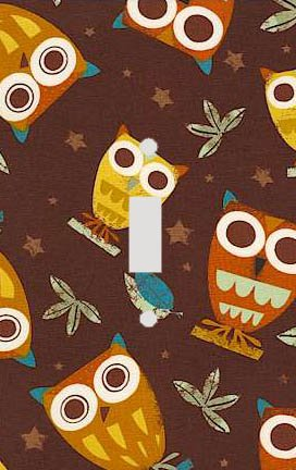 Retro Owls Decorative Switchplate Cover (Owl Wall Plate Cover compare prices)