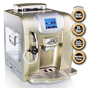 cafe bonitas retrostar pearl kaffeevollautomat touchscreen wochentimer 19 bar 2l. Black Bedroom Furniture Sets. Home Design Ideas