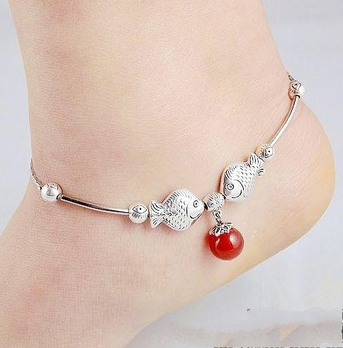 Tibetan Silver Sterling Silver Bangle Anklet Chain Bracelet Jewellery Quality Style NO.10088