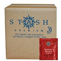 Stash Tea Christmas Morning Black Tea, 100 Count Box of Tea Bags in Foil