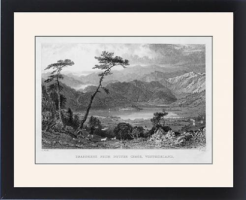 Framed Artwork Of Grasmere/allom/1832