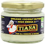 Tiana Organic Omega3 Coconut Butter 250 ml (Pack of 2)