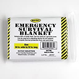 Emergency Survival Solar Blanket - 1 Person by Mayday Industries, Inc.