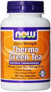 Now Foods Thermo Green Tea Veg Capsules, 90 Count