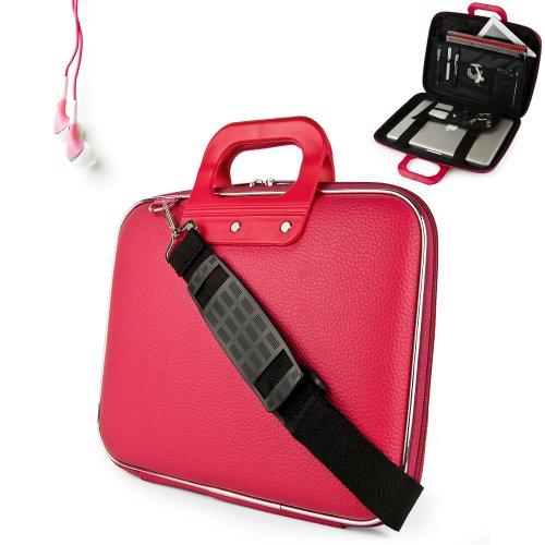 Buy Now Buy Cheap Uniquely designed SumacLife Brand Pink Ultra Durable Reinforced 13 Inch Cady Hard Shell Sports Bag for all models of the HP Envy 4-1130us 14 inch ultrabook (HP Envy series, windows 8, 4-1130us, 4-1110us, Black) + Earphones Buy cheap online