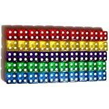50 6-Sided Dice | 10 x 5 Different Colors