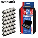 Hohner Blues Band Harmonica 7-Pack with Carrying Case