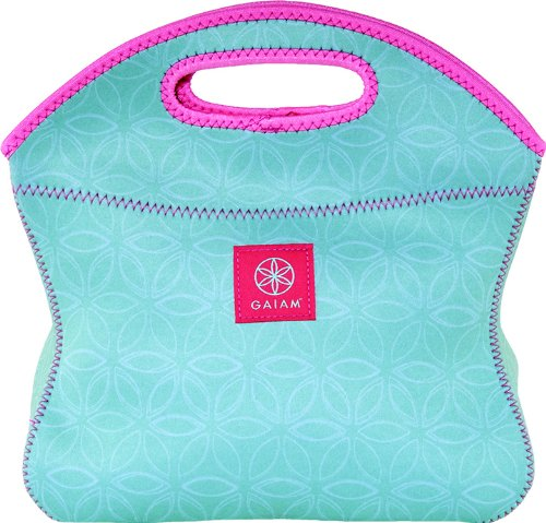 Gaiam Lunch Clutch, Neoprene - Teal Flower of Life (30907)
