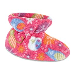 ACORN Infant/Toddler Easy Bootie Slipper,Toddler Extra Large,Fat Cat Pink